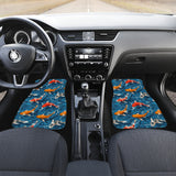 Koi Fish Carp Fish in Water Pattern Front Car Mats