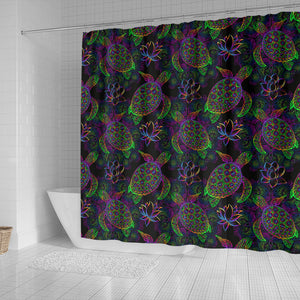 Sea Turtle Pattern Shower Curtain Fulfilled In US