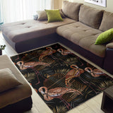 Flamingo Pattern Background Area Rug
