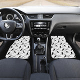 Crow Pattern Background Front Car Mats