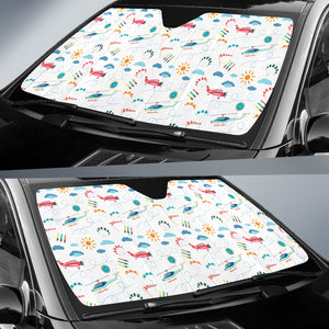Helicopter Plane Pattern Car Sun Shade