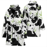Panda Pattern Women Bathrobe