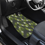 Christmas Tree Camo Pattern Front Car Mats