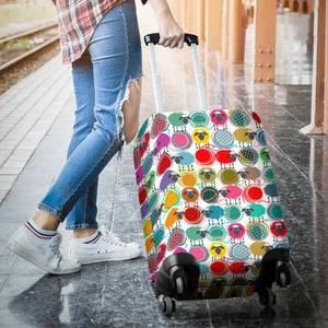Colorful Sheep Pattern Luggage Covers