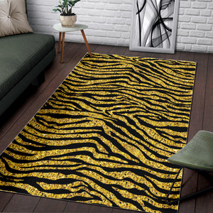 Gold Bengal Tiger Pattern Area Rug