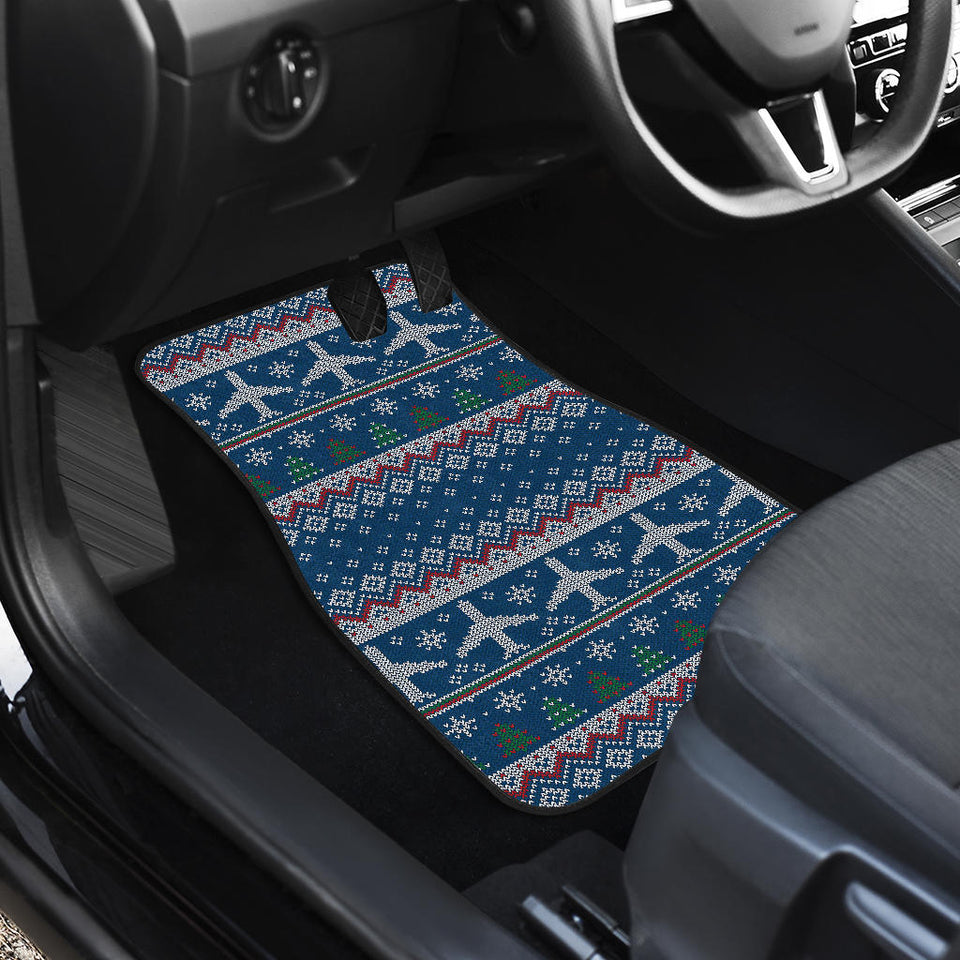 Airplane Sweater printed Pattern Front Car Mats