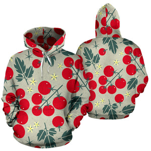 Hand Drawn Tomato Pattern Men Women Pullover Hoodie