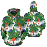 Heliconia Butterfly Leaves Pattern Men Women Pullover Hoodie