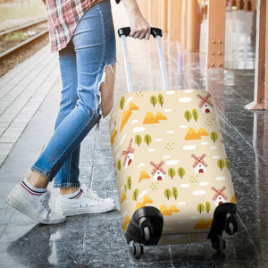 Windmill Pattern Luggage Covers