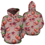 Grapefruit Pattern Background Pullover Hoodie