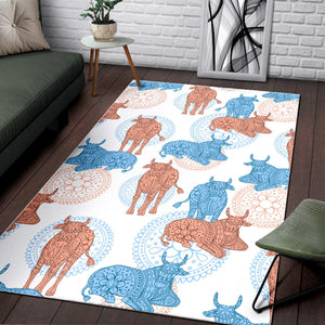 Cow Tribal Pattern Area Rug