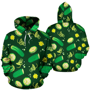 Cucumber Pattern Background Men Women Pullover Hoodie