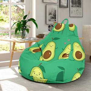 Cute Avocado Pattern Bean Bag Chair