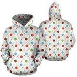 Bowling Ball and Pin Pattern Pullover Hoodie