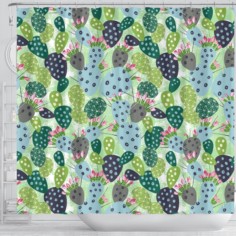 Cactus Pattern Background Shower Curtain Fulfilled In US