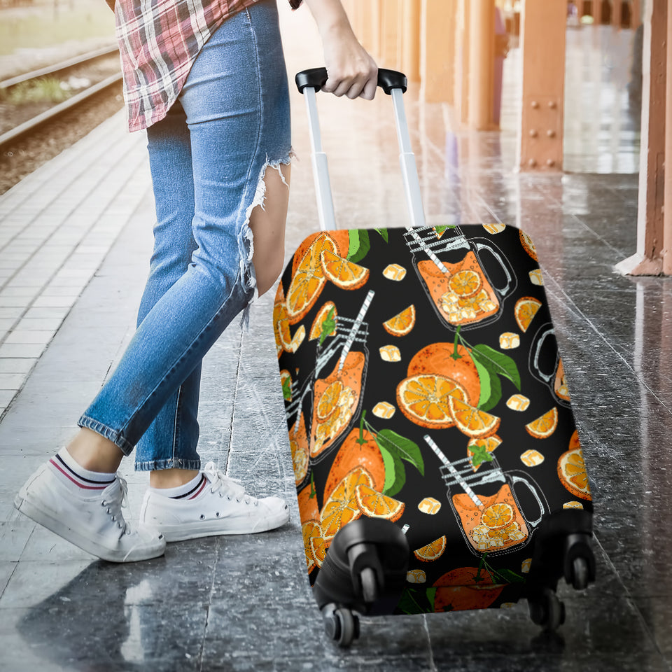 Orange Ice Orance Juice Pattern Luggage Covers