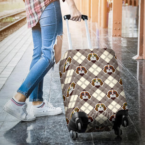 Beagle with Sunglass Pattern Luggage Covers