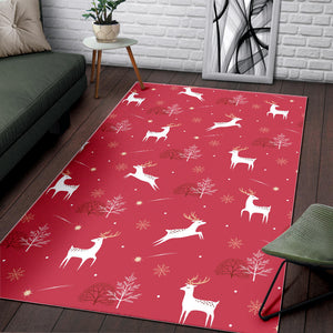 Deer Pattern Background Area Rug