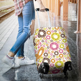 Colorful Donut Pattern Luggage Covers