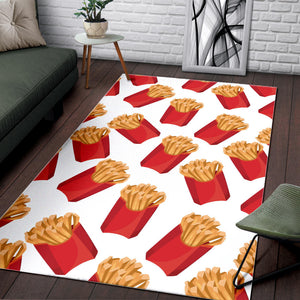 French Fries Theme Pattern Area Rug