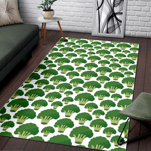 Broccoli Pattern Background Area Rug