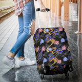 Snake Flower Pattern Luggage Covers