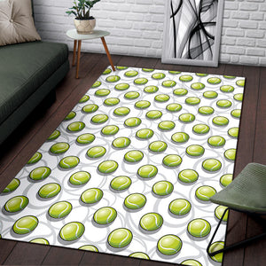 Tennis Pattern Print Design 05 Area Rug