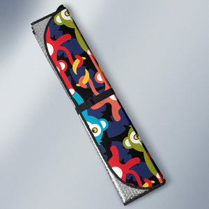 Colorful Monkey Pattern Car Sun Shade