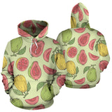 Guava Pattern Background Men Women Pullover Hoodie