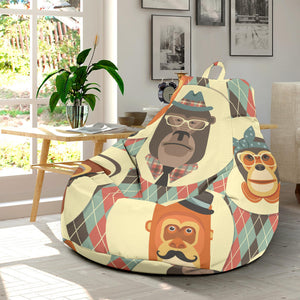 Monkey Pattern Bean Bag Chair