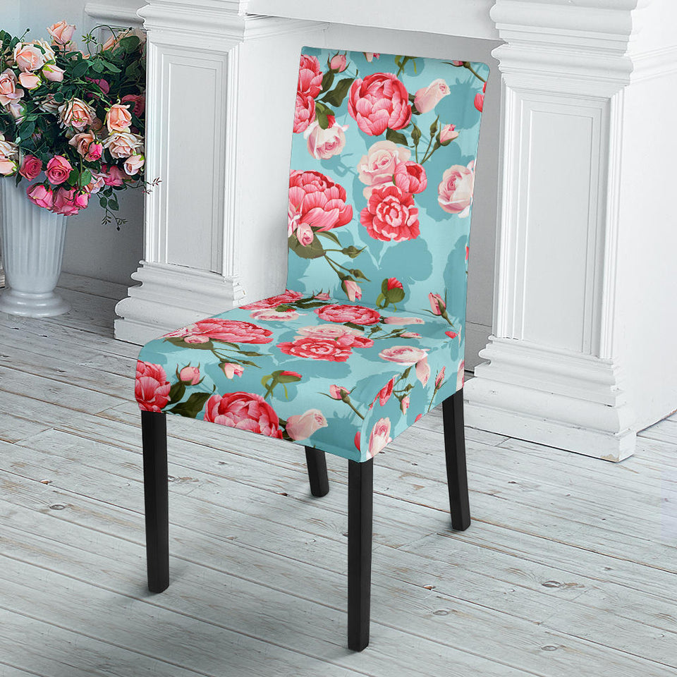 Rose Pattern Print Design 03 Dining Chair Slipcover