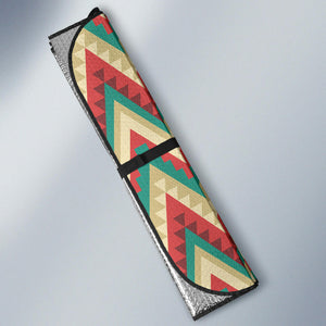 Zigzag Chevron Pattern Car Sun Shade