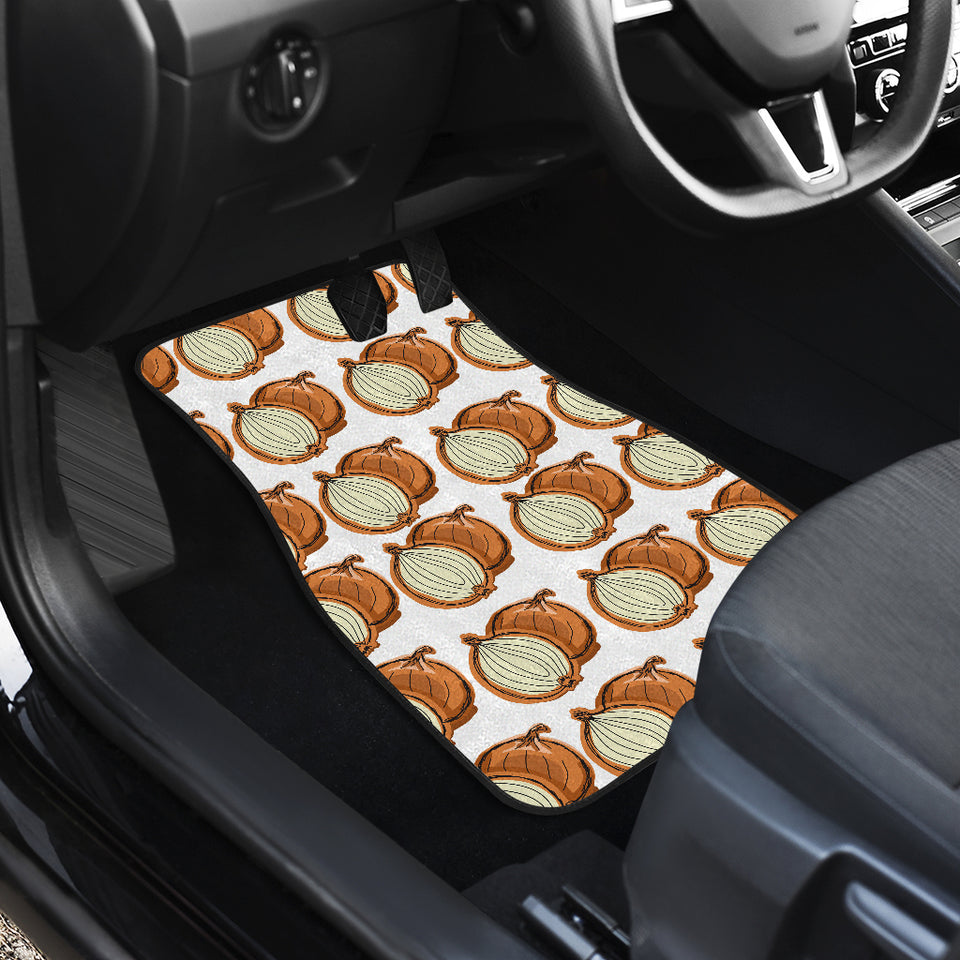 Onion Theme Pattern Front Car Mats