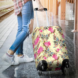 Butterfly Pink Rose Pattern Luggage Covers