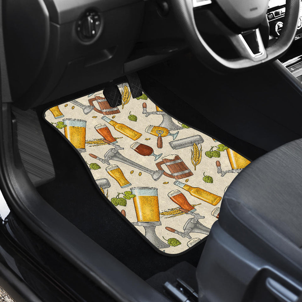 Beer Pattern Front Car Mats