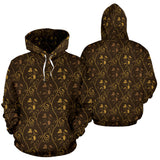 Gold Grape Pattern Men Women Pullover Hoodie