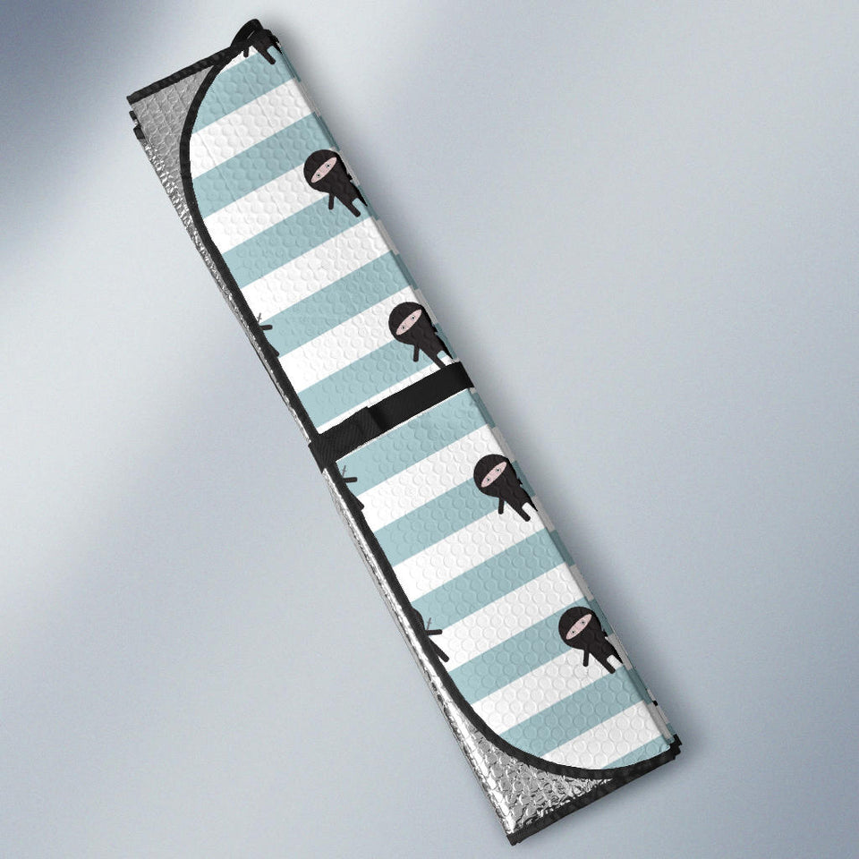 Ninja Pattern Stripe Background Car Sun Shade