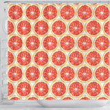 Sliced Grapefruit Pattern Shower Curtain Fulfilled In US