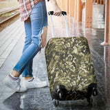 Green Camo Camouflage Flower Pattern Luggage Covers