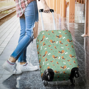 Beagle Bone Pattern Luggage Covers