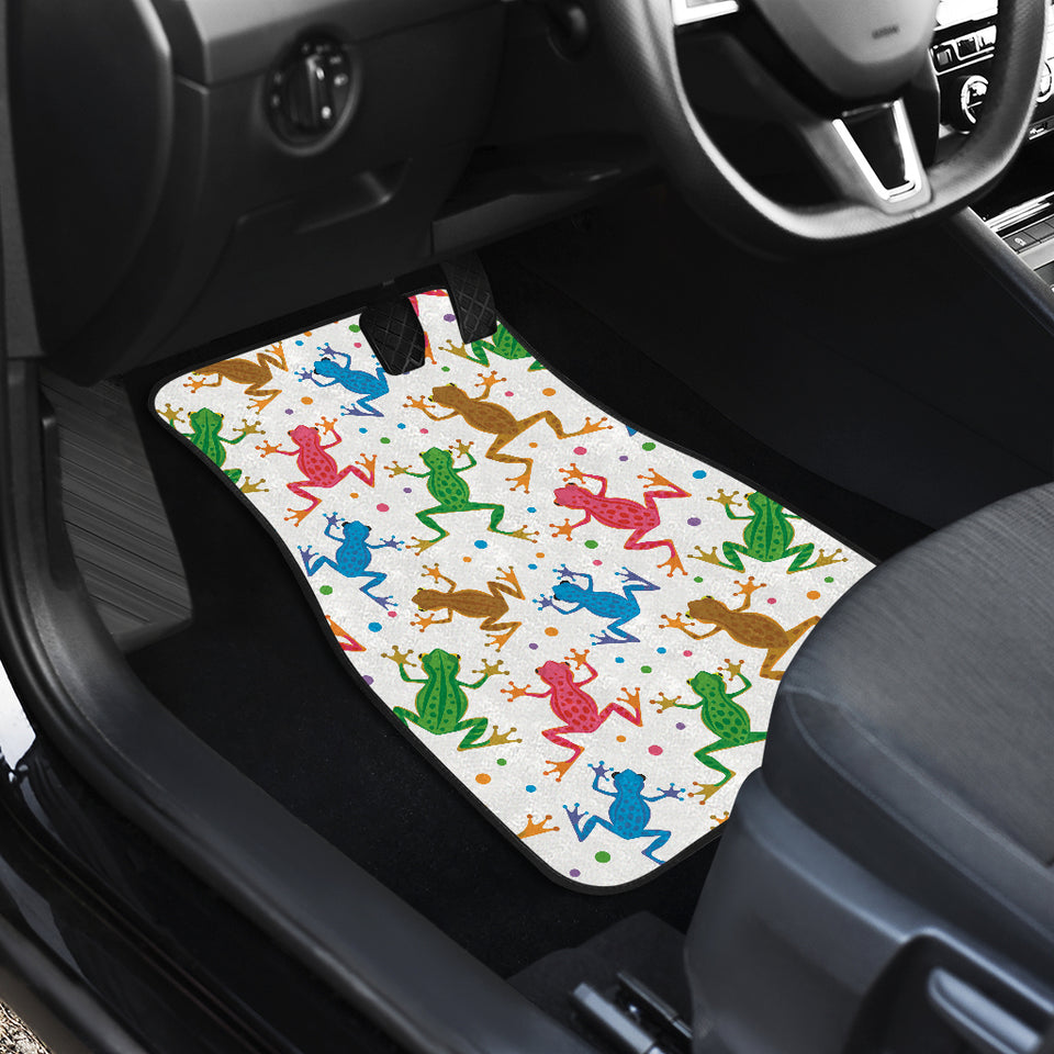 Colorful Frog Pattern Front Car Mats
