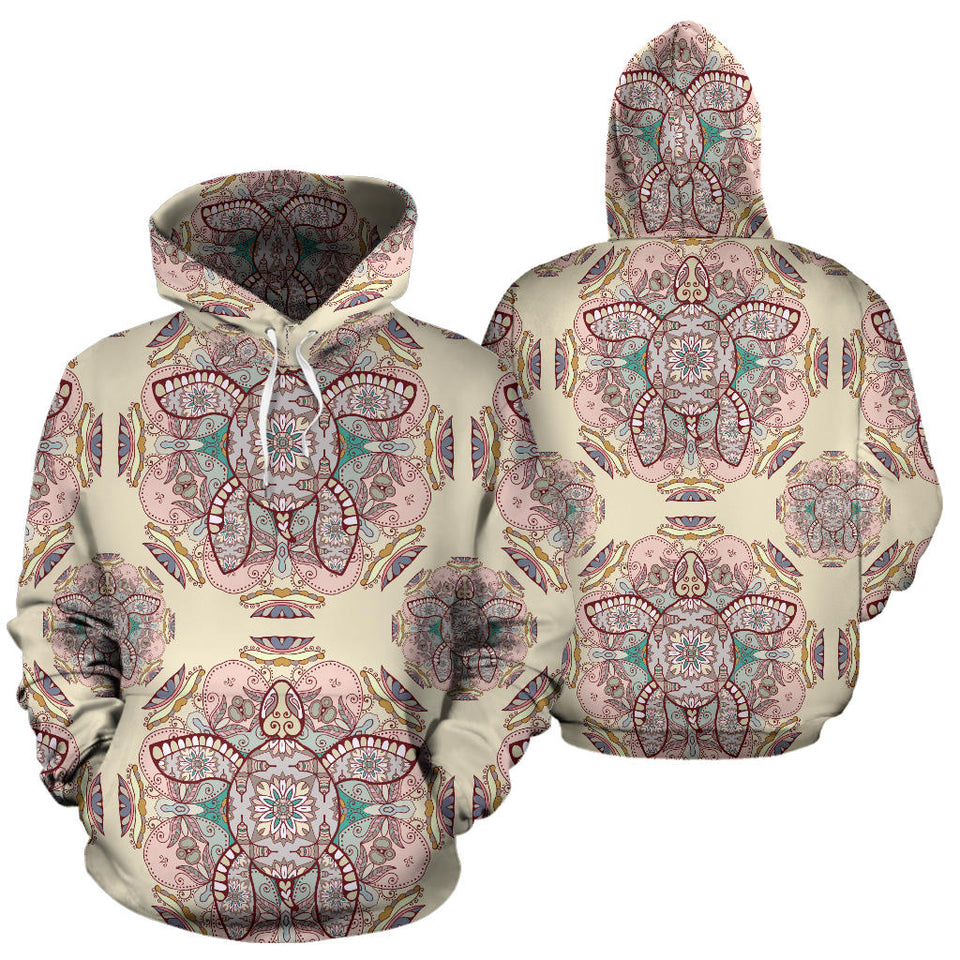 Sea Turtle Tribal Pattern Men Women Pullover Hoodie