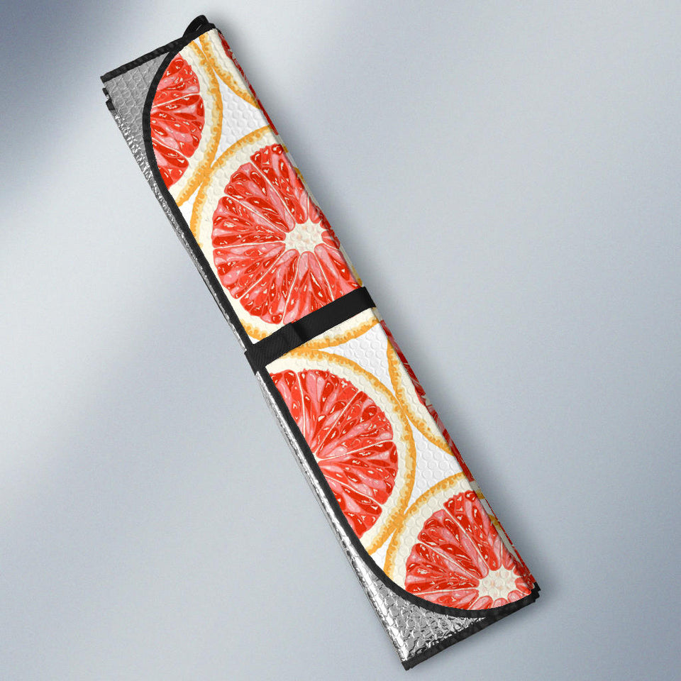 Sliced Grapefruit Pattern Car Sun Shade