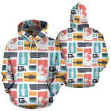 Guitar Pattern Background Pullover Hoodie