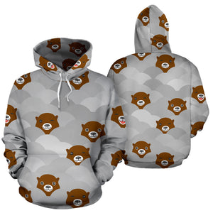 Cute Otter Pattern Men Women Pullover Hoodie