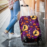 Halloween Pumpkin Witch Pattern Luggage Covers