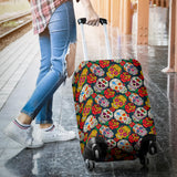 Suger Skull Pattern Background Luggage Covers