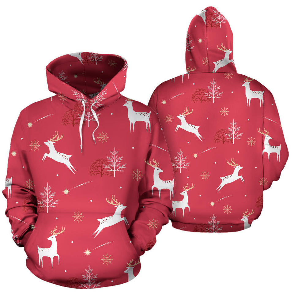 Deer Pattern Background Men Women Pullover Hoodie
