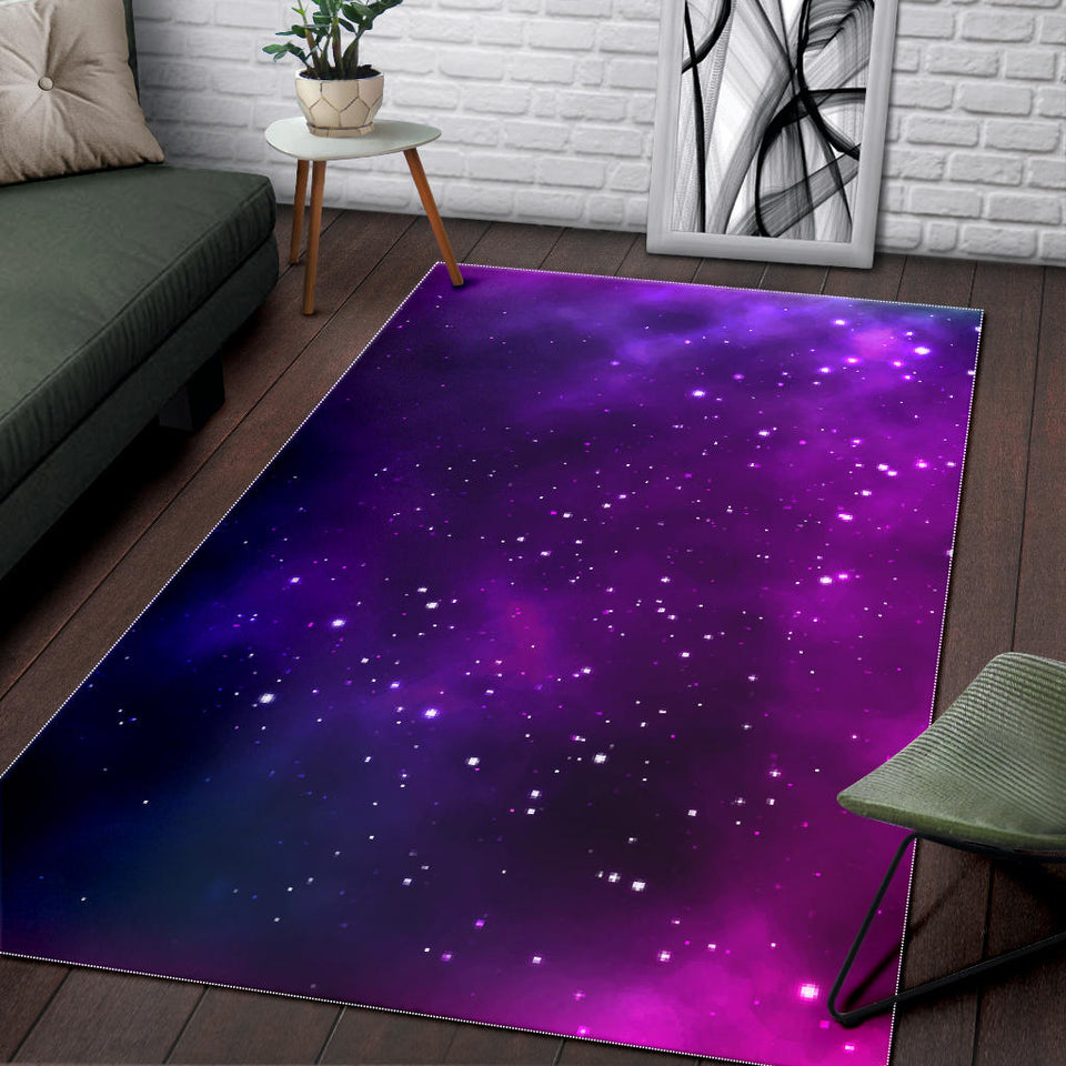 Pink Space Galaxy Pattern4 Area Rug