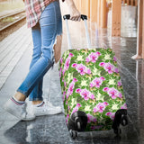 Orchid Leaves Pattern Luggage Covers